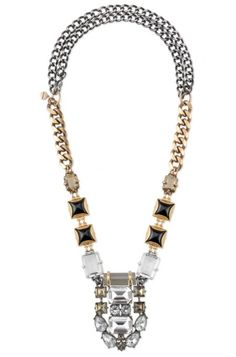 Accessorize with a high style gold, black & crystal stone pendant statement necklace. Find fashion necklaces, trendy necklaces & more at Stella & Dot.