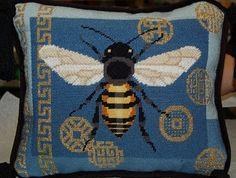 Ridgewood Needlepoint Blog: May 2010, bee pillow