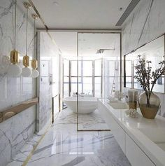 Modern Luxury Interior Design Ideas for Your Home Interior Design Ideas to Bring Luxury and Opulence Into Your House Modern Luxury Interior Design Ideas. Apartment Bathroom Design, Bathroom Design Luxury, Luxury Interior Design, Luxury Bathrooms, Bath Design, Gold Interior, Small Bathrooms, Modern Luxury Bathroom, Kitchen Interior