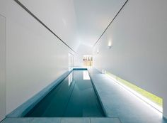 Indoor Pool, House in Ovar, Portugal _ by architect Paula Santos (photo © Nelson Garrido) _ Indoor Pools, Lap Pools, Blog Architecture, Ideas De Piscina, Moderne Pools, Swiming Pool, Dream Pools, Swimming Pool Designs, Garden Pool