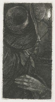 Hand en hoed: fragment van de versneden plaat met het portret van Pieter Haringh, Rembrandt Harmensz. van Rijn, 1655