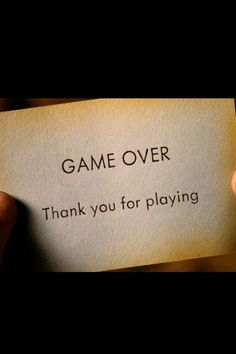 Il gioco è finito. Grazie per aver giocato.