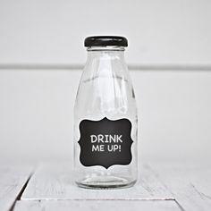 Mini Glass Milk Bottles | Little Ink | Packaging Supplies | Baking Supplies | Craft Supplies | Party Supplies