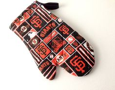 Go SF Giants, Quilted Oven Mitt, San Francisco, Giants Oven Mitt, Giants Mitt, Tailgating, BBQ Mitt