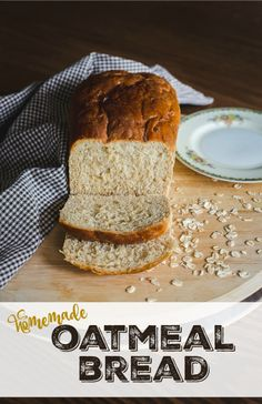 Thick, hearty, and nothing but down home simple goodness, this oatmeal bread recipe is the best bread I've ever eaten! No exaggeration! Easiest recipe I've ever made too. | happymoneysaver.com