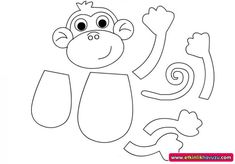 cut paste crafts for kids crafts and worksheets for preschool Summer Crafts For Toddlers, Animal Crafts For Kids, Toddler Crafts, Art For Kids, Monkey Crafts, Monkey Art, Cut And Paste Worksheets, Worksheets For Kids, Kindergarten Worksheets
