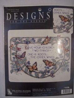 Designs For The Needle Roots & Wings Cross Stitch Kit Butterflies Children Quote #DesignsForTheNeedle #PrayingHandsCollection