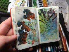 86 of 365 - Kenneth Rocafort - Sketchbook