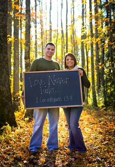 Engagement pic idea...so cute! I want this reading for our wedding mass.