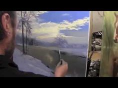 """Мастер-класс Игоря Сахарова """"Зимний пейзаж в деревне"""" v6 - YouTube"""