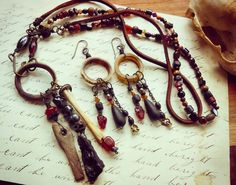 Check out this item in my Etsy shop https://www.etsy.com/listing/275570330/earthbound-bohemian-necklace-scavenged