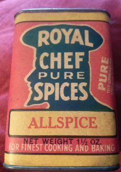 Royal Chef Allspice antique spice tin