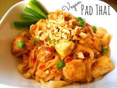 Easy Vegan Pad Thai, recipe here: http://www.peta.org/living/food/easy-vegan-pad-thai/ #yum #quickmeal #veganfood