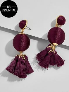 These of-the-moment ball drop earrings combine two of our favorite trends: tassels and color. Ideal for everyday and evening style alike, these are the earrings you'll reach for again and again. As seen on Something Navy.