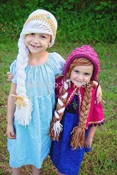 Aliexpress.com: Koop gratis verzending, met de hand gehaakt bevroren geïnspireerd anna hoed, bevroren hoed, meisje hoed foto rekwisieten xmas verjaardagscadeau van betrouwbare cadeau romantische leveranciers op crochet baby hats