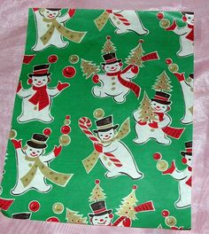 7 REMNANT SHEETS VTG 1950'S XMAS GIFT PACKAGE WRAP WRAPPING PAPER, CRAFTS   eBay