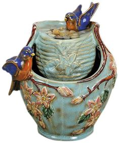 Indoor fountains  - Pin it :-) Follow us, CLICK IMAGE TWICE for Pricing and Info . SEE A LARGER SELECTION of indoor fountains at http://azgiftideas.com/product-category/indoor-fountain/  - gift ideas , home decor   -  Nature's Garden Tabletop Garden Fountain, Blue Bird
