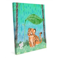 "Click Wall Art 'Unlikely Friends' Graphic Art on Wrapped Canvas Size: 14"" H x 11"" W x 1.5"" D"