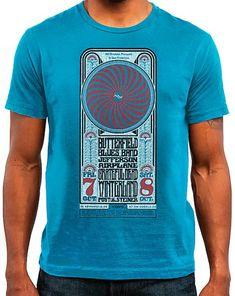 d32b09fab7ec The Paul Butterfield Blues Band Men's T-Shirt from Winterland, Oct 7, 1966