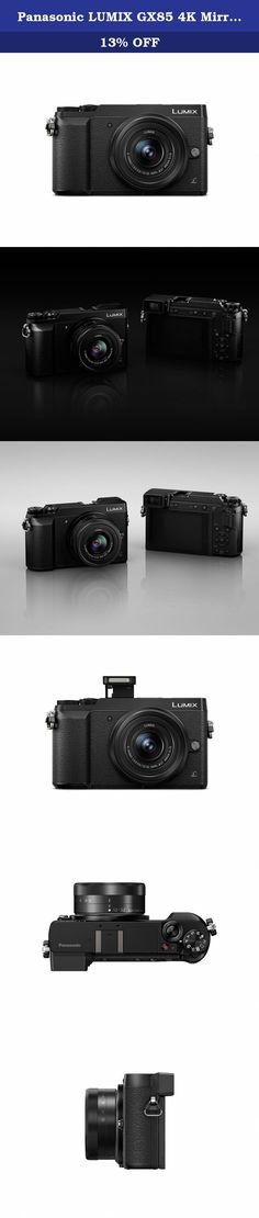 Panasonic LUMIX GX85 4K Mirrorless Interchangeable Lens Camera Kit, 12-32mm Lens, 16 Megapixels, Dual Image Stabilization, Electronic Viewfinder, WiFi - Black. For today's interchangeable lens camera enthusiasts — or anyone looking for a lighter, newer more intelligent alternative to bulky DSLRs — Panasonic LUMIX Mirrorless Micro Four Thirds system cameras deliver impressive, no-compromise performance. Nearly half the size of most DSLRs, the DMC-GX85 delivers impressive large sensor...