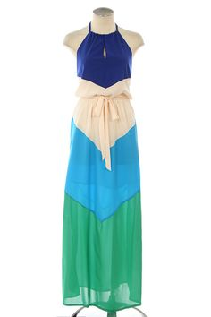 color block maxi dress $49.99  Check out the store. Lots of fabulous dresses, all under $50