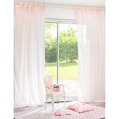 chambre Emma // Maison du monde // Rideau enfant pois rose ...