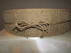 16 x 4 Burlap and Suede Wedding Cake Stand by PadipaDesigns, $60.00