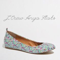 J. Crew Floral Anya Ballet Flats. Anya ballet flats in a beautiful floral print from J. Crew Factory. Perfect for summer! New in box. No trades. No PayPal. J. Crew Shoes Flats & Loafers