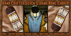 Seven Strand Bone Choker From Tribal And Western Impressions-  Old West Cowboy And Indian Store-  www.indianvillagemall.com
