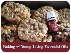 Bake oatmeal cookies with young living cinnamon bark essential oil!