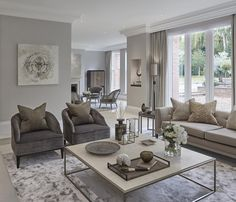 Living room at the Wentworth project