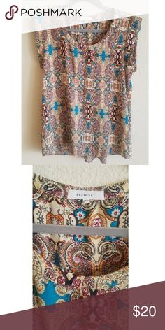 Boho silk dress top Perfect for work Pleione Tops Blouses