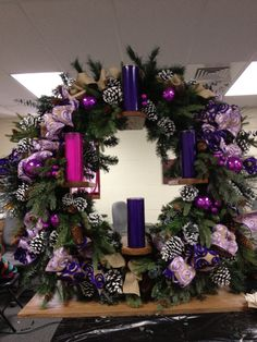 Vertical Advent wreath for altar...