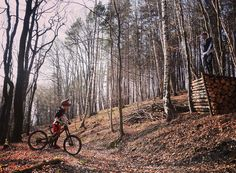 throwback: checking out the roadgap before the first take off :D  #throwback #roadgap #jump #firsttry #hometrail #specialized #demo #carbon #troyleedesigns #woods #sunshine #downhill #freeride #mtb #mhcrew #mounthegro by mhcrewofficial
