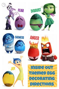 Inside Out themed Egg Decorating Directions - A Sparkle of Genius