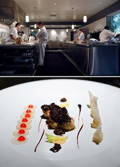 """Dine at a very expensive restaurant: Chef and owner, Grant Achatz, is renowned for his creative dishes. """"Alinea, is located in Chicago"""