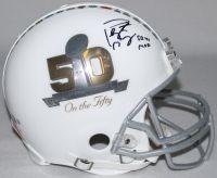 "PEYTON MANNING Signed LE Super Bowl 50 Full-Size Authentic Pro-Line Helmet Inscribed ""SB 41 MVP"" STEINER COA & FANATICS Hologram) LE 50 - Game Day Legends"