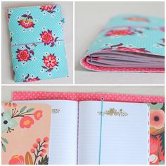 I shared the basics for making a fabric traveler's notebook…