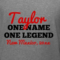 One Name One Legend family reunion t-shirt template. Edit to use your family name. Choose your favorite t-shirt product, t-shirt sizes, and get it delivered at no extra charge it just 10-days. Make this year's family reunion and event to remember with personalized tees!