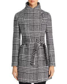 Calvin Klein - Toggle Wrap Coat Grey Pea Coat, Houndstooth Coat, Wrap Coat, Polished Look, Day Dresses, Everyday Fashion, Coats For Women, Calvin Klein, Shirt Dress
