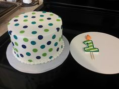 Blue and Teal Smash Cake