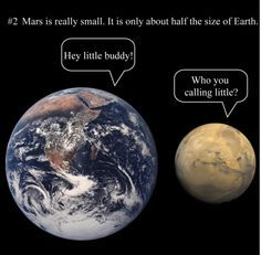 I did not, in fact, know this! I thought Mars was ... gulp ... a bit bigger than Earth.