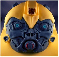 Transformers Bumblebee Birthday Cake by Andrea Hillman, via Behance