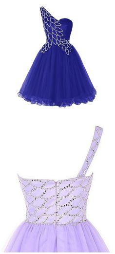 Unique Style One Shoulder A-line Prom Dress, Pretty