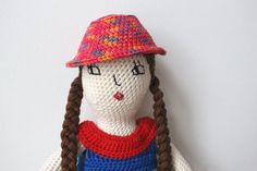 Crochet doll pattern amigurumi girl pattern crochet by Melosina