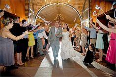 Checkered Flag Ribbon Wands, Grand Exit | Adaumont Farm, Rustic Barn Wedding |Liz Grogan Photography | Leigh Pearce Weddings, Greensboro North Carolina Wedding Planner