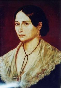 """Anita Garibaldi (Ana Maria de Jesus Ribeiro), (1821-1849) foi a companheira do revolucionário Giuseppe Garibaldi e intitulada como a """"Heroína dos Dois Mundos"""". Até hoje é considerada uma das mulheres mais fortes e corajosas de seu tempo."""