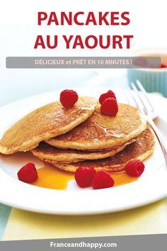 Pancakes au yaourt : Recette super simple prête en 10 minutes ! Et si DÉLICIEUSE ..!
