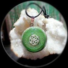 Verde Brillante con Mandala 3CM