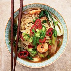 Spice up your evening with this Asian prawn noodle soup.
